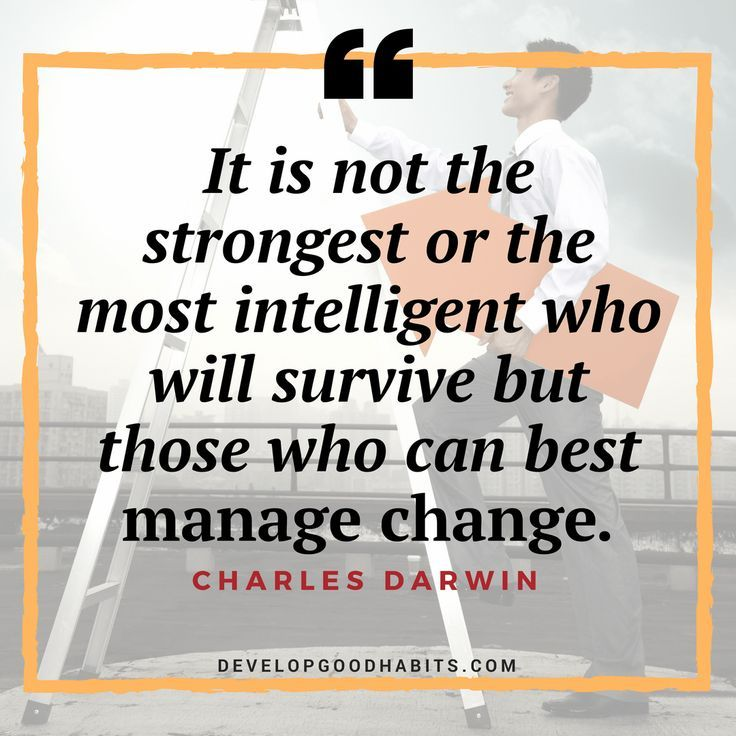 Nice Success quotes Those who survive manage change--success - soft skills