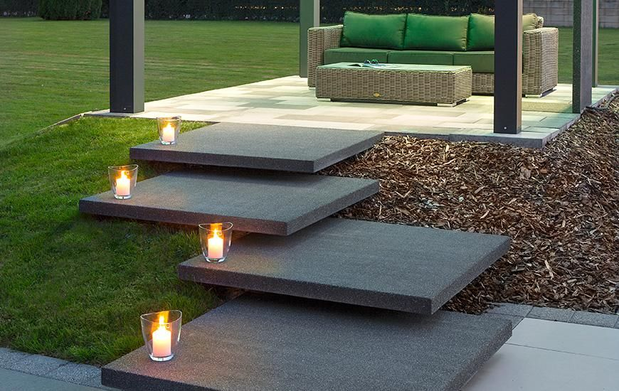 bildergebnis f r stufen beleuchtung rechteck schmal terrasse pinterest. Black Bedroom Furniture Sets. Home Design Ideas