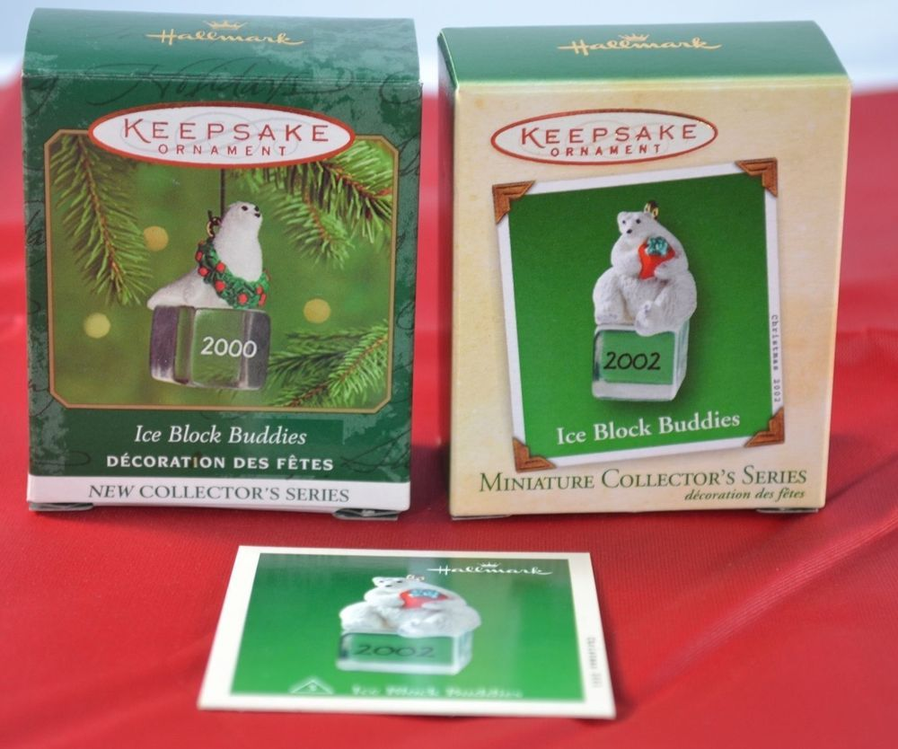 Miniature ornaments - Hallmark Keepsake Miniature Ornaments Ice Block Buddies Seal Polar Bear Mint