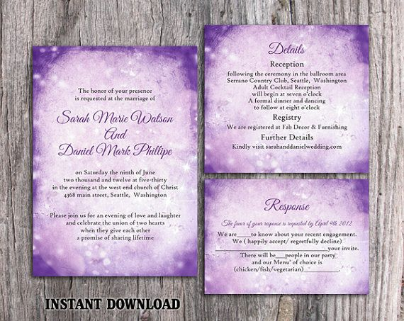rustic wedding invitation template download printable wedding