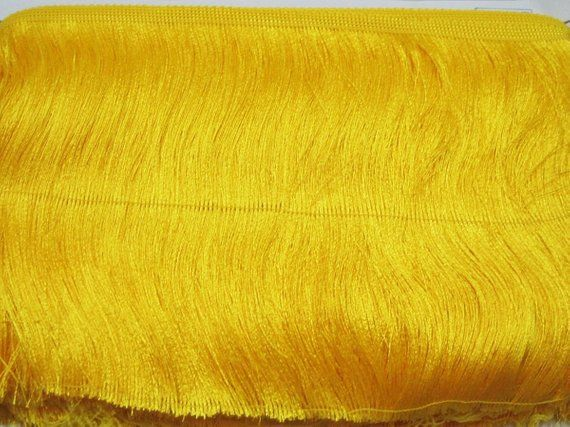 7 Inch Long Fringe Neon Yellow Chainette Fringe