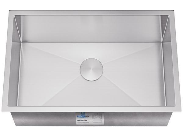 Allora 27 Handmade Stainless Steel Undermount Kitchen Sink