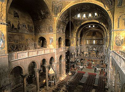 Basilica Di San Marco Around 1060 Venice Italy San Marcos Venecia Catedral De San Marcos Basilica De San Marcos