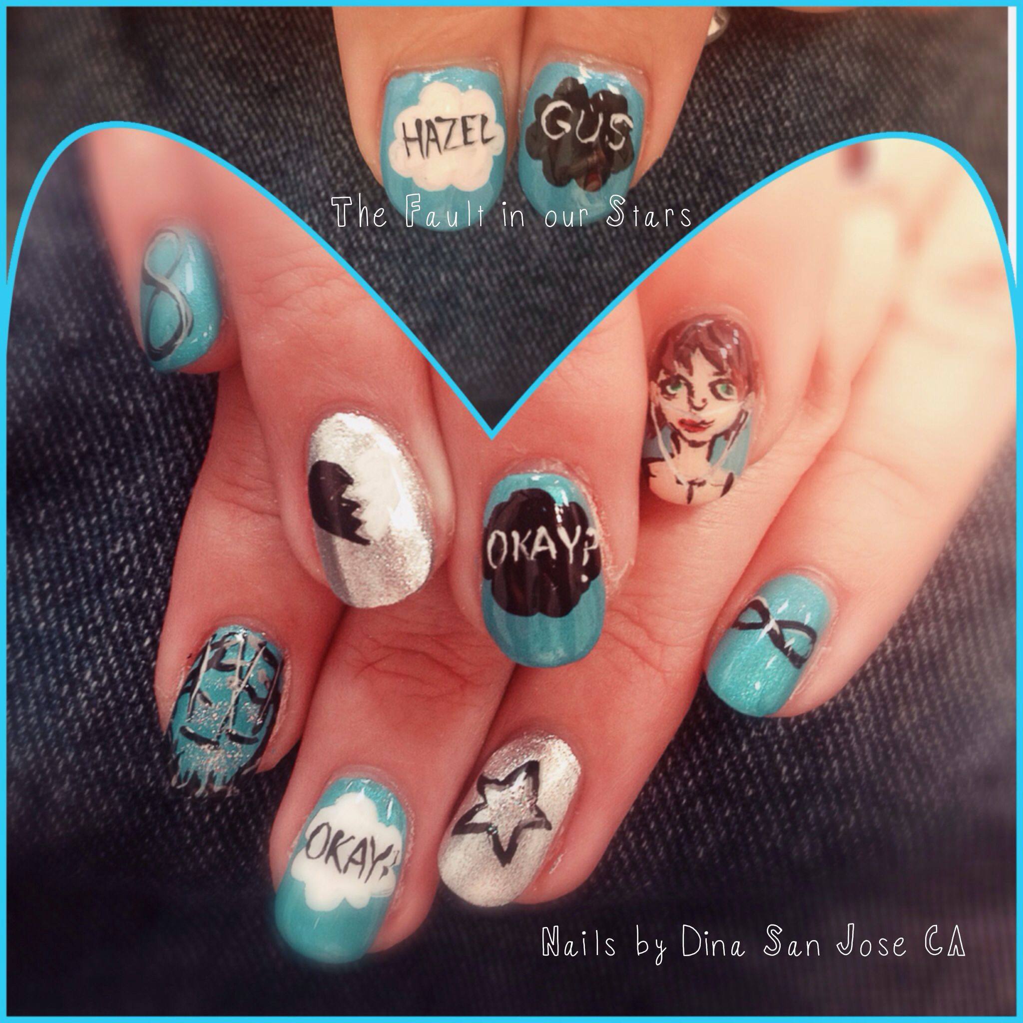 The Fault In Our Stars nails handpainted | NAILS BY DINA/my work ...