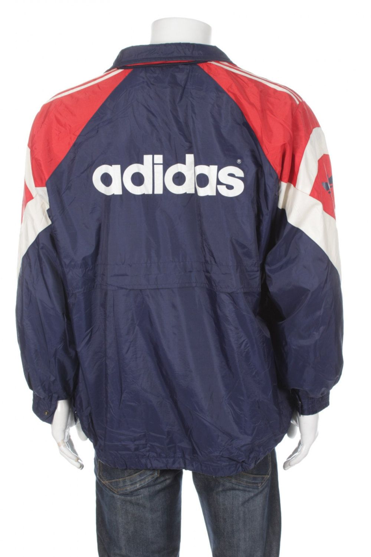 d8c174e5ecf4 Vintage 90s Adidas Trefoil Logo Tracksuit Top Windbreaker jacket Blue Red  Size M by VapeoVintage on Etsy