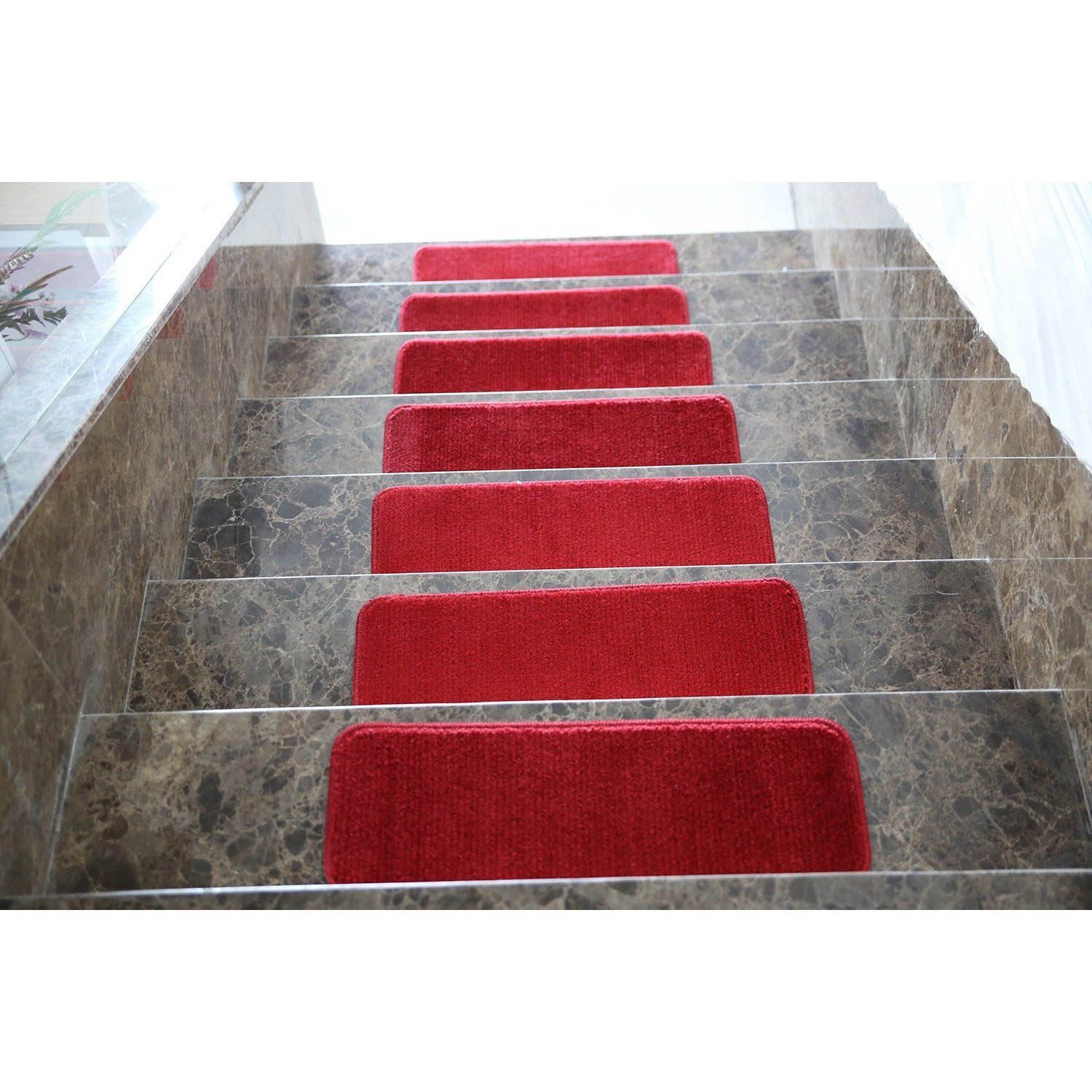 Best Ottomanson Softy Solid Color Non Slip Stair Treads Stair 640 x 480