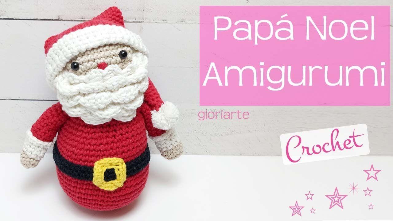 Papá Noel de ganchillo amigurumi. Crochet amigurumi Santa Claus ...