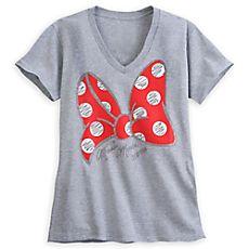 Minnie Maus T Shirt mit Schleifenmotiv für Damen | Disney