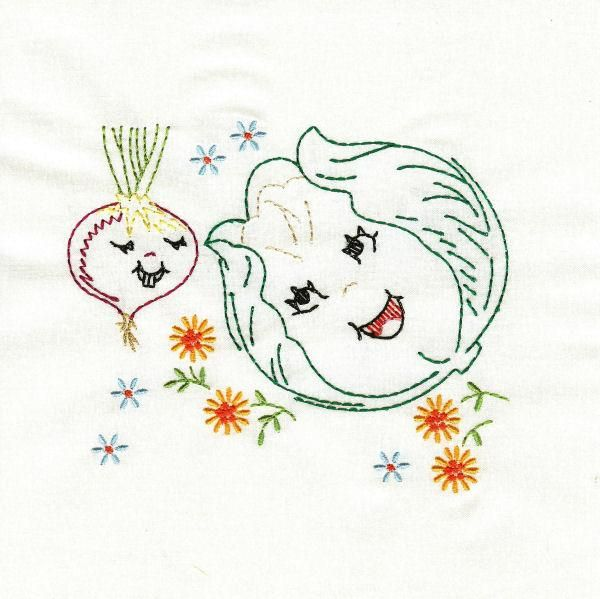 OregonPatchWorks.com - Sets - Vintage Happy Veggies | Embroidery ...