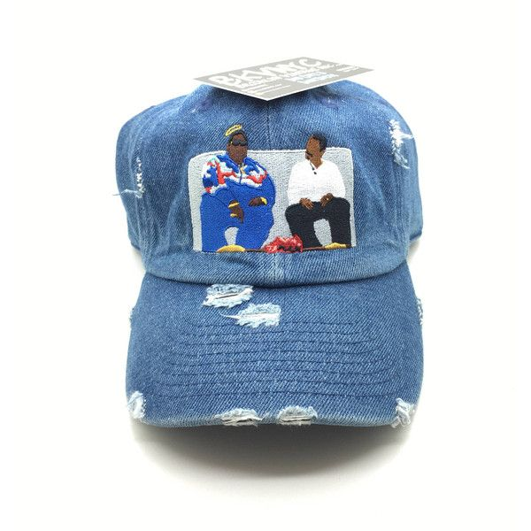 e77952f3b20 Denim Distressed Biggie On Martin Show Dad Cap Hat ( 33) ❤ liked on  Polyvore featuring accessories