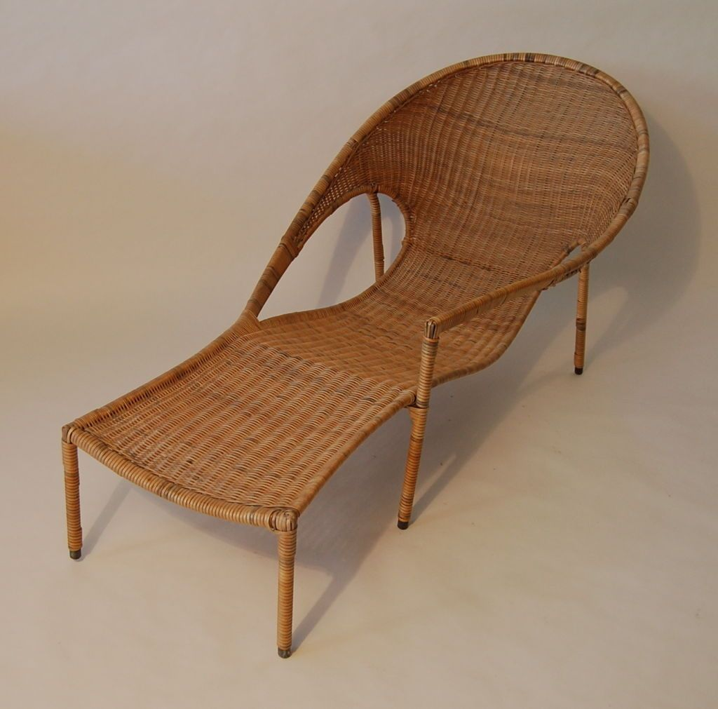 Rattan Chaise Lounge By Francis Mair Image 2 Chair Rattan