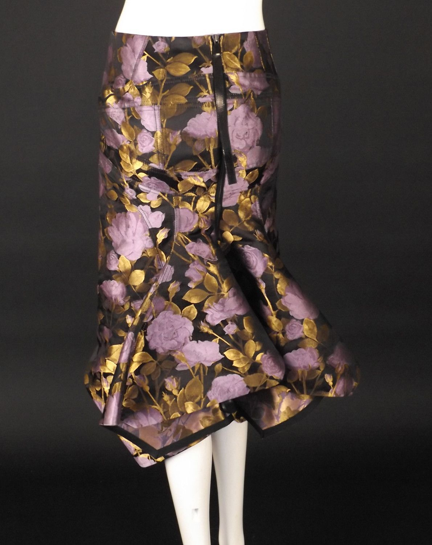 Boudiccalavender and gold floral brocade skirt waist