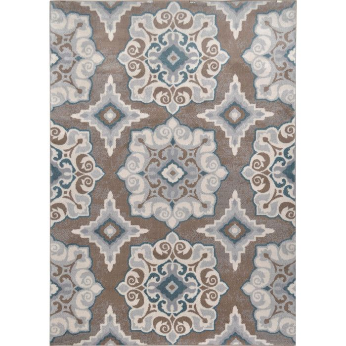 Andover Mills Natural Taupe Teal Area Rug Amp Reviews