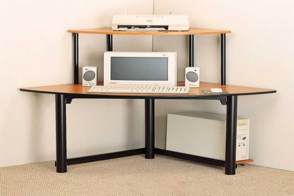 Why Purchase A Small Corner Computer Desk Designalls In 2020 Corner Computer Desk Computer Desk Small Space Ikea Computer Desk