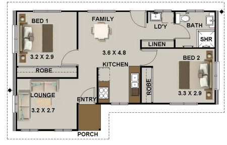 Big Bedroom 2 Bed House Plan House Plans Home Design Plans House Floor Plans