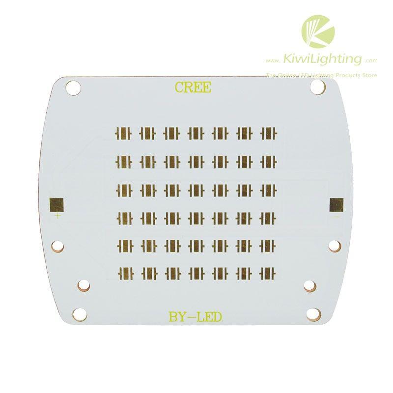 Aluminum/Copper LED PCB - fits 10/20/30/42/80/100pcs Cree XP-E/XP-G/XT-E LEDs - Kiwi Lighting - Aluminum/Copper LED PCB, Bonding pad dimension: 3.5mm*3.5mm, can mount 10/20/30/42/80/100pcs Cree XP-E/XP-G/XT-E LEDs,     + $1.80