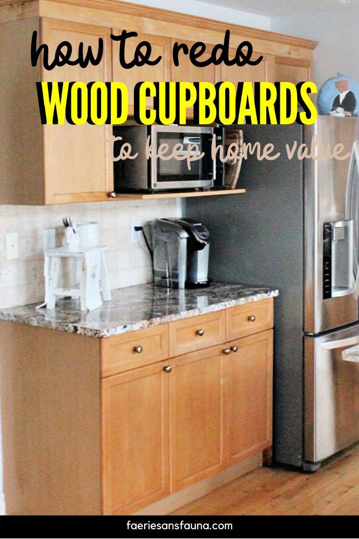 How to Refinish Wood Cabinets in 2020   Wood kitchen ...