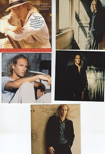 """For Sale - Michael Bolton A Love So Beautiful + Postcards UK  CD single (CD5 / 5"""") - See this and 250,000 other rare & vintage vinyl records, singles, LPs & CDs at http://eil.com"""