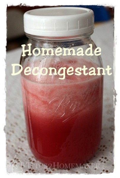 All-Natural Homemade Decongestant. Okay I just want to thank whoever came up with this because it really does work!!!