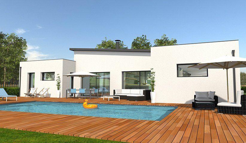 Maison contemporaine de plain pied 132 m 4 chambres en 2018 maison pp maison belle maison - Modele maison plain pied 4 chambres ...