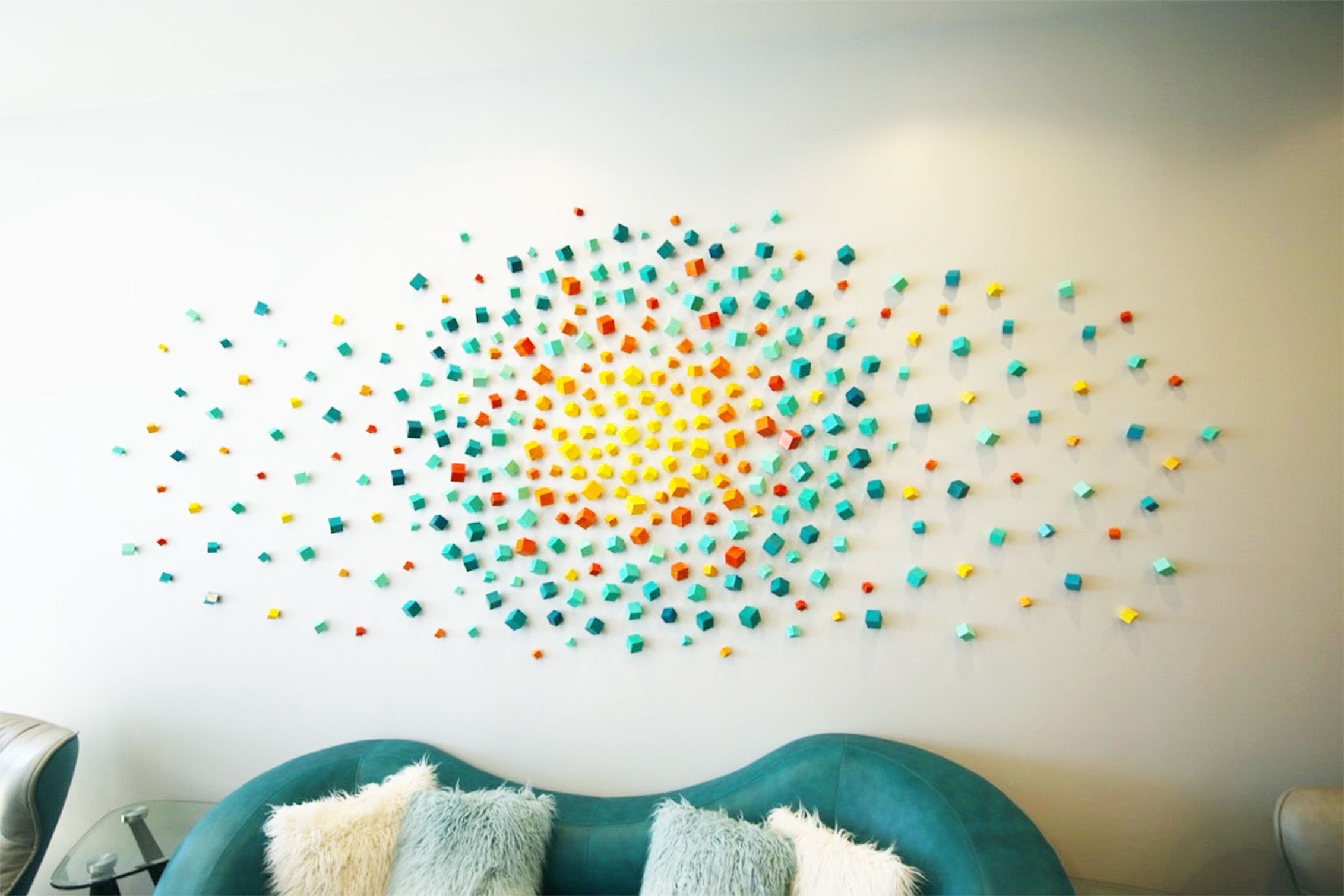 Lobby Art   Commercial Office Wall Art   3D Installation Art   Rosemary  Pierce Modern Art