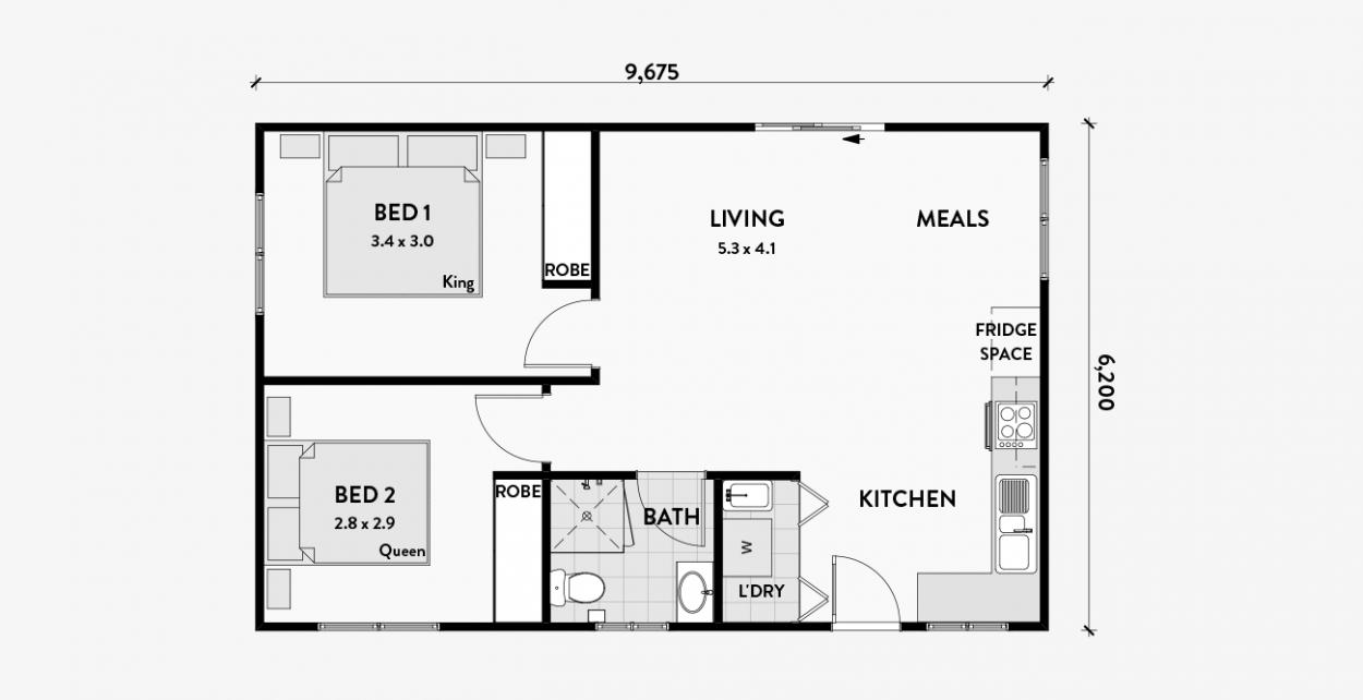 Lily 60m2 2 Bedroom Granny Flat Granny Flats Australia Granny Pod