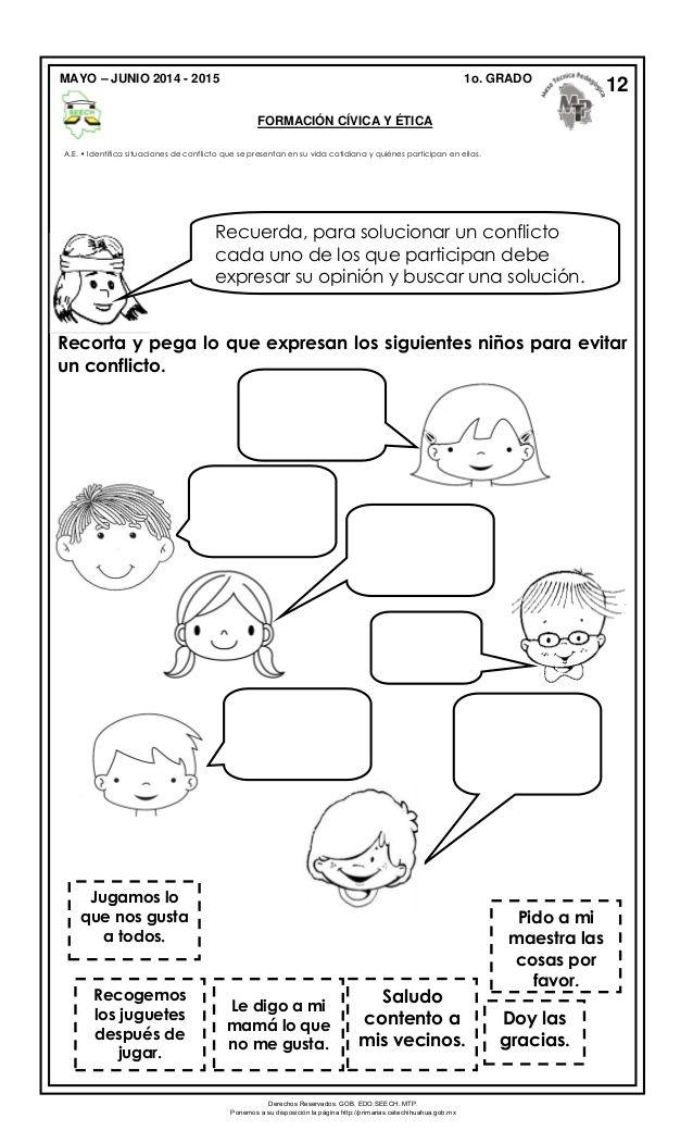 Resultado de imagen para resolucion de conflictos en primaria ...