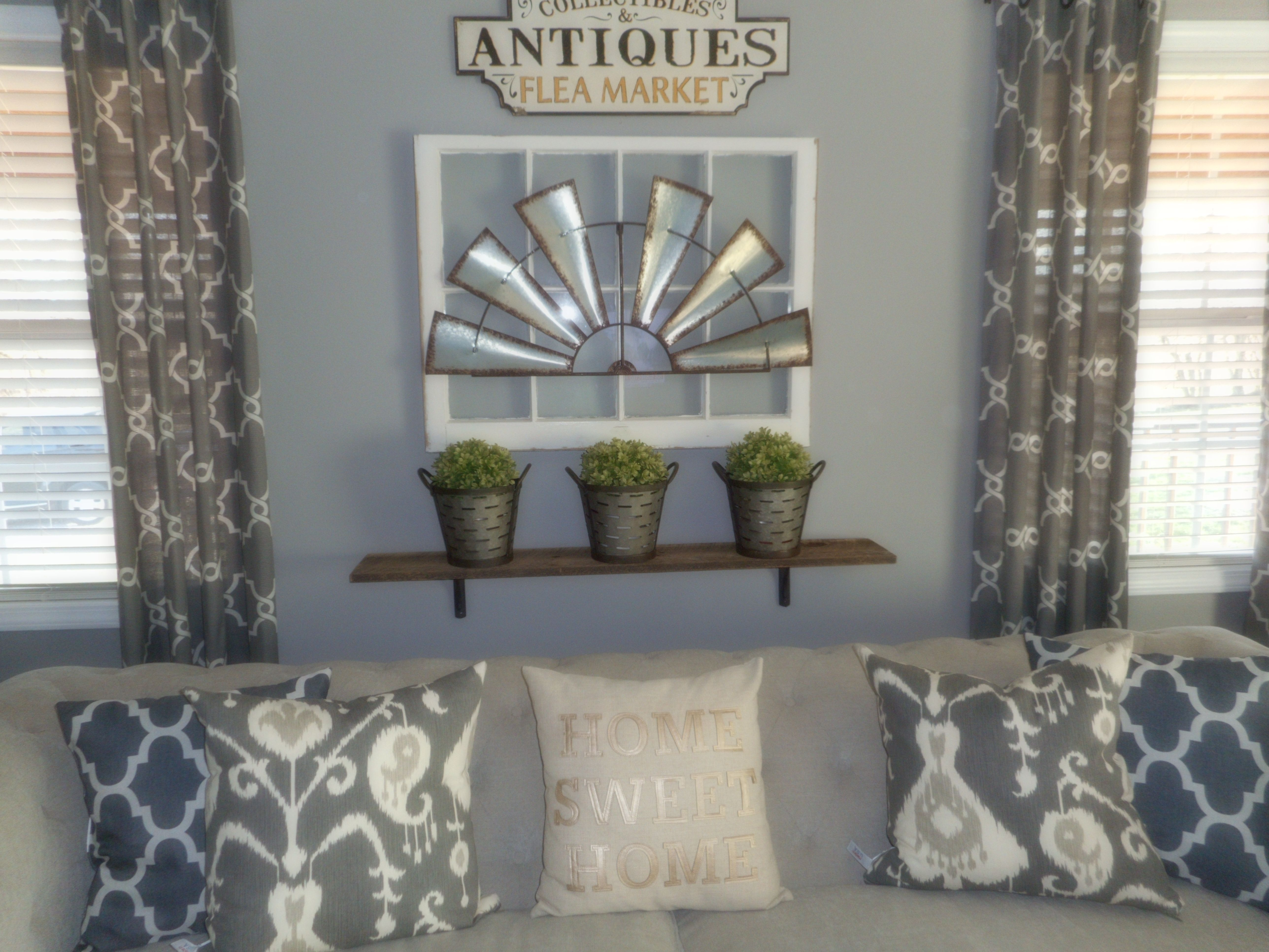 My Windmill Wall Décor I Did Above My Couch.