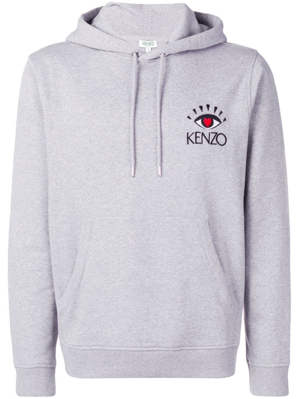 9bbb970987 Kenzo logo embroidered hoodie - Grey in 2019 | Products | Hoodies ...