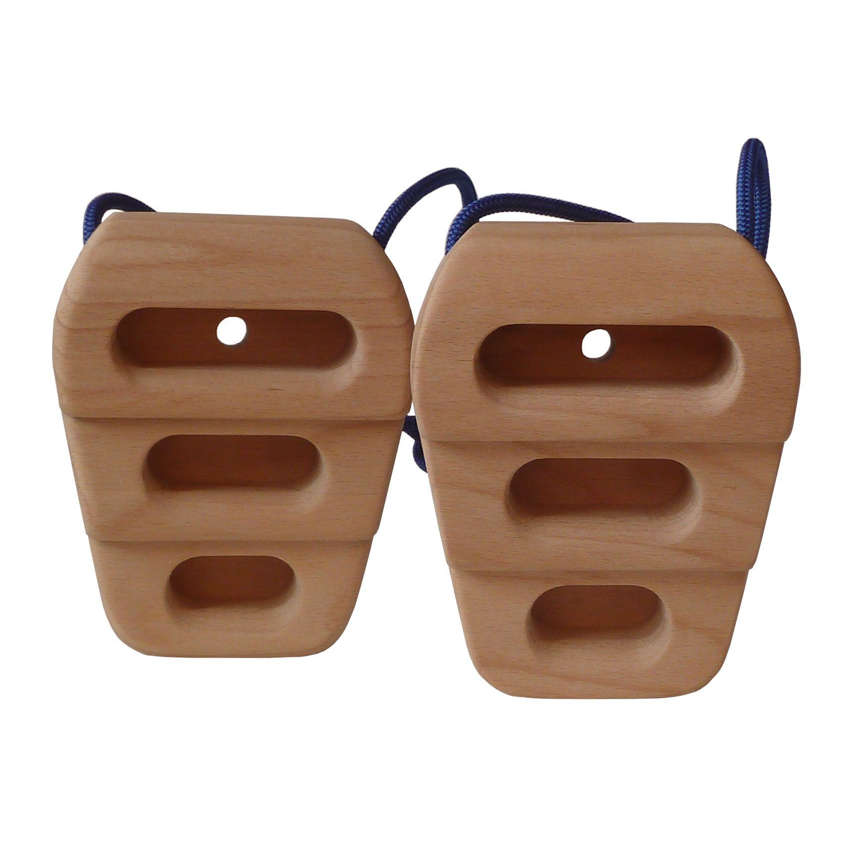 Cliffhanger von target10a. Das Original zum Warmmachen am Fels oder für den Urlaub. Klettertraining an portablen Holzgriffen.