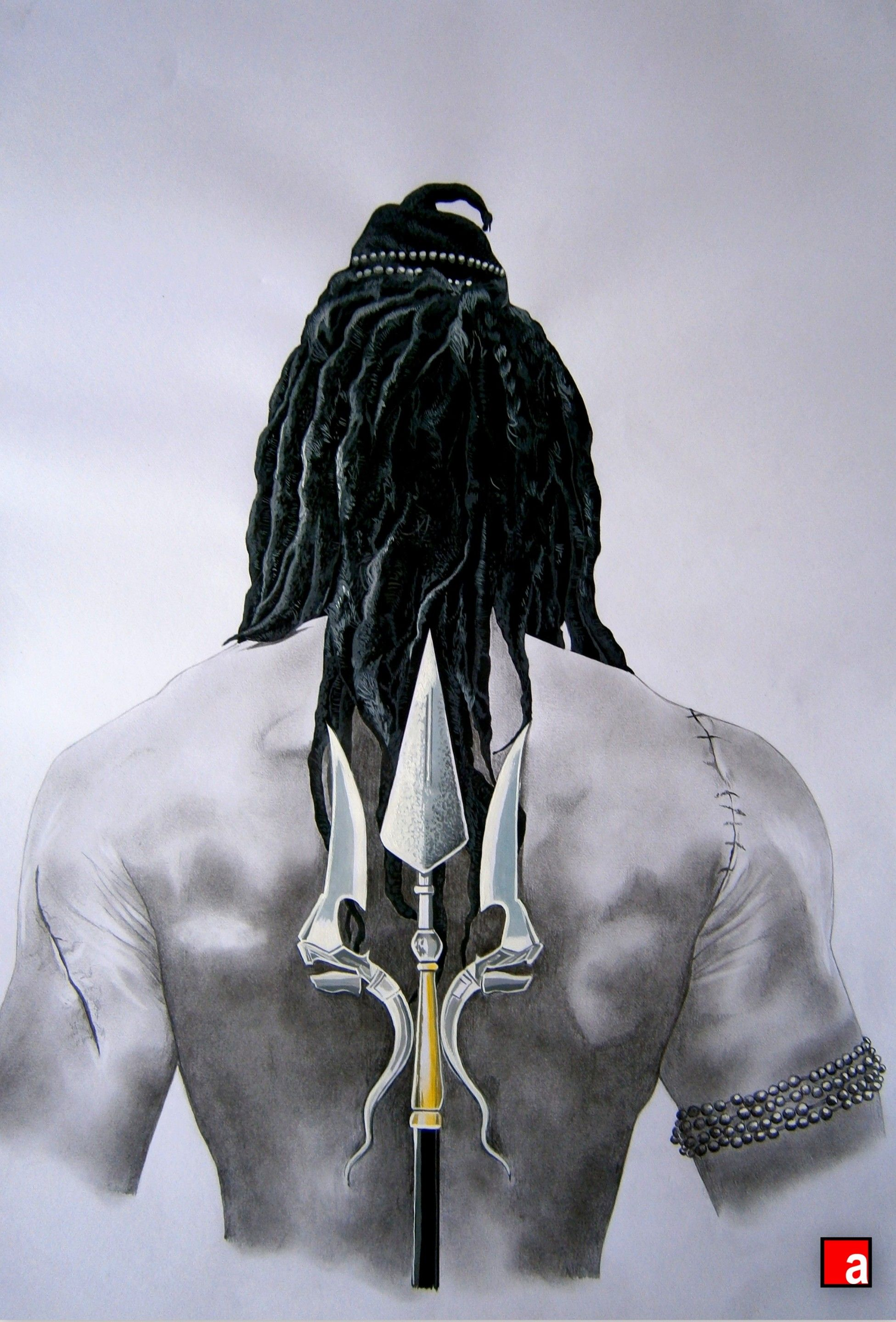 Lord shiva from the novel the immortals of meluha a pencil art done by me