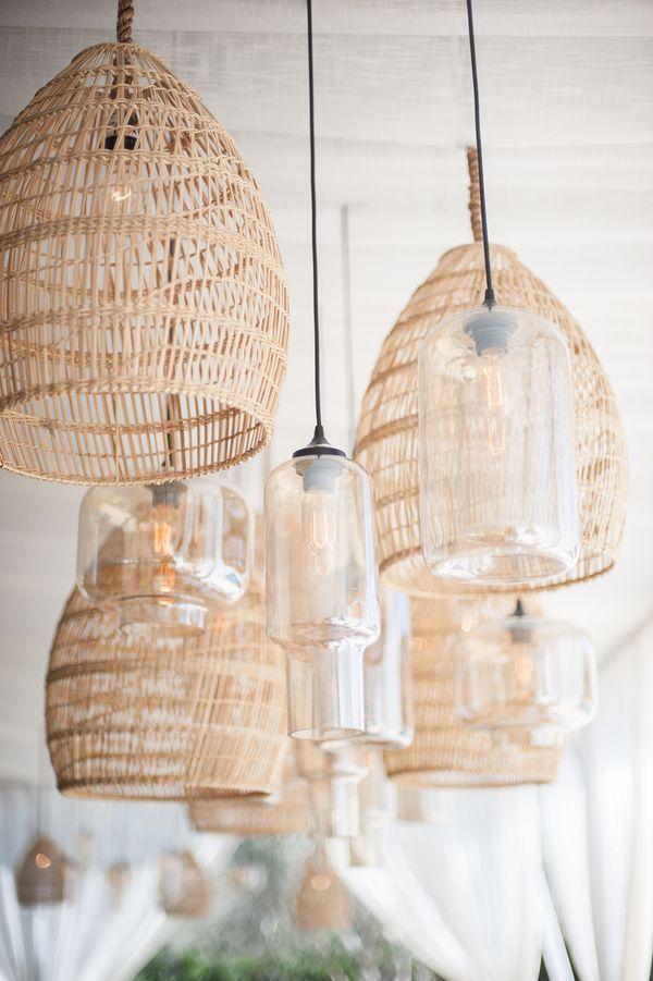 Mix Of Wicker And Glass Pendants Diy Hanging Light Diy Hanging