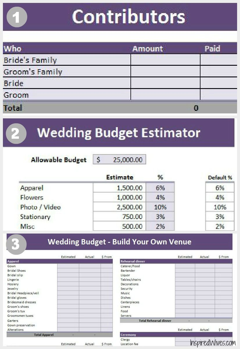 wedding planning budgeting tool free excel download finance