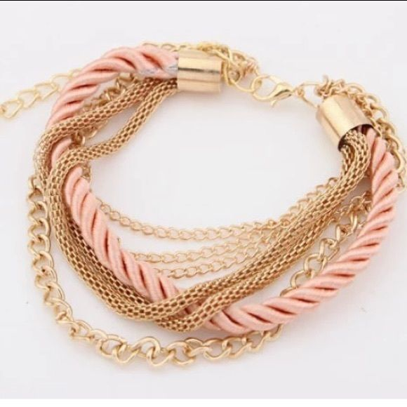 New Fashion Rope Weave Multilayer Bracelet Gold plated. Brand new and good quality. Jewelry Bracelets