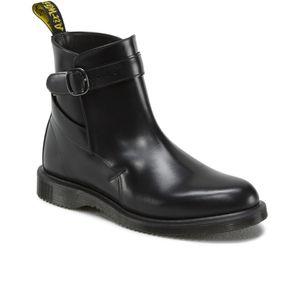 f935d0f4fa1e Black · Dr. Martens Women s Teresa Jodphur Ankle Boots - Black Polished  Smooth