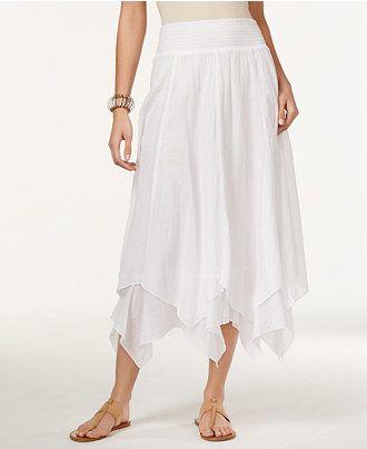 3ed34ebe0 Petite Handkerchief-Hem Skirt, Only at Macy's - Skirts - Women - Macy's