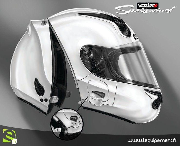 casque int gral moto et scooter sans jugulaire voztec moto 1 casques pinterest casque. Black Bedroom Furniture Sets. Home Design Ideas
