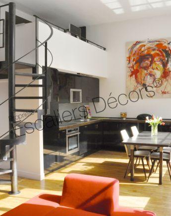 Photo DH107 - SPIR'DÉCO® Caisson. Escalier d'intérieur hélicoïdal au design contemporain ...