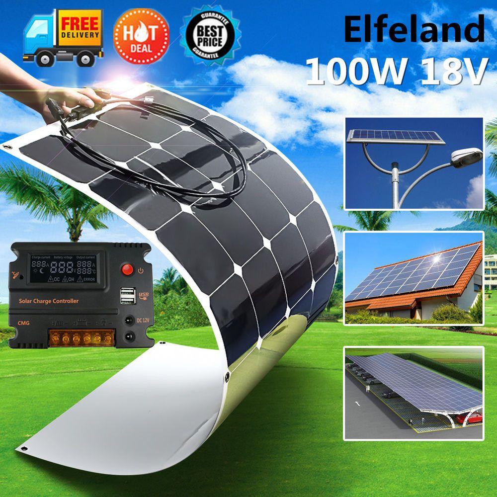Elfeland 100w 200w 300w 400w 500w 1kw Semi Flexible Sunpower Solar Panel Kit Home Garden Home Improvement Solar Panels Information Solar Panel Kits Solar