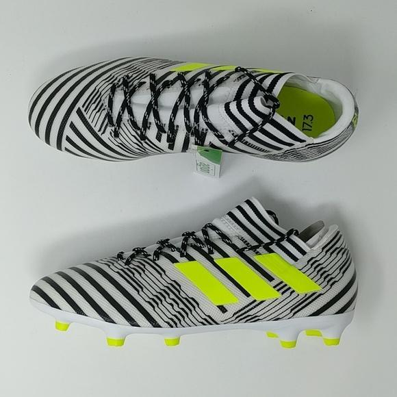 ca094038879 Adidas Nemesis 17.3 FG White Yellow Black S80599 Men Soccer Cleats ...