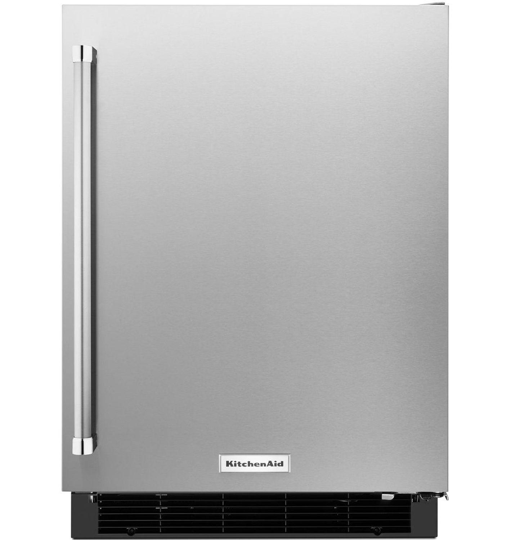 Kitchenaid 24 stainless steel undercounter refrigerator