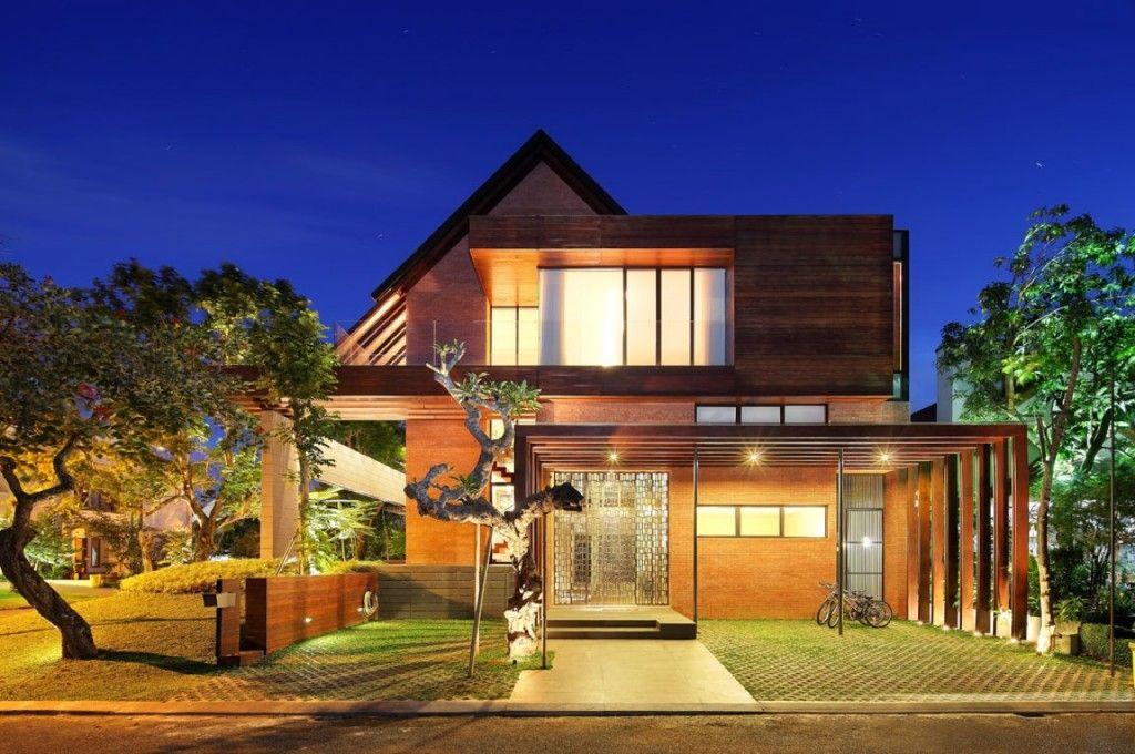 Tropical House Design Facade Arsitektur Rumah Desain