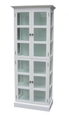 Vitrinskåp 75x40x190cm (rek.pris 5990 kr) / Alezzi - vita möbler ...