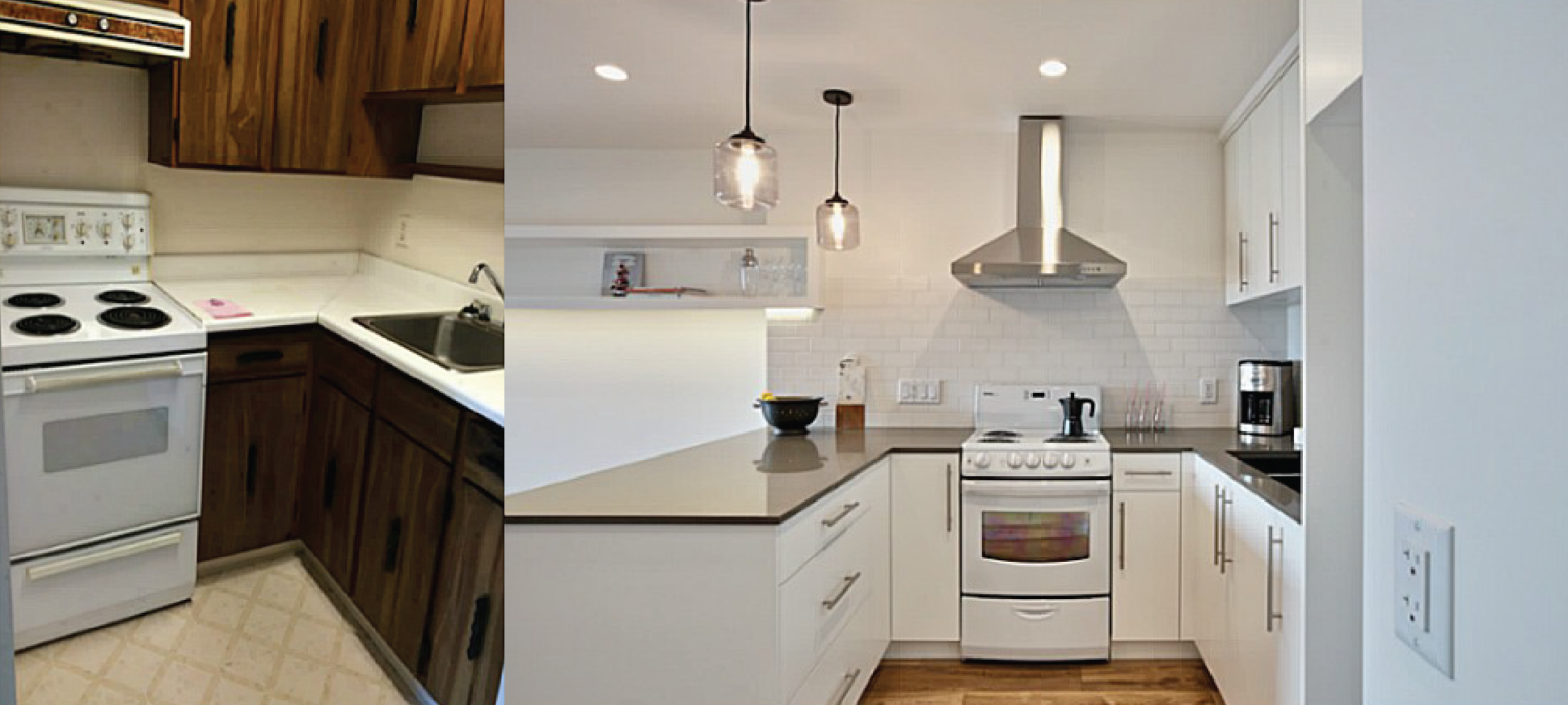 Condo Remodel Before And After  Small Kitchen Remodel Before And Entrancing Kitchen Design Hawaii Design Decoration
