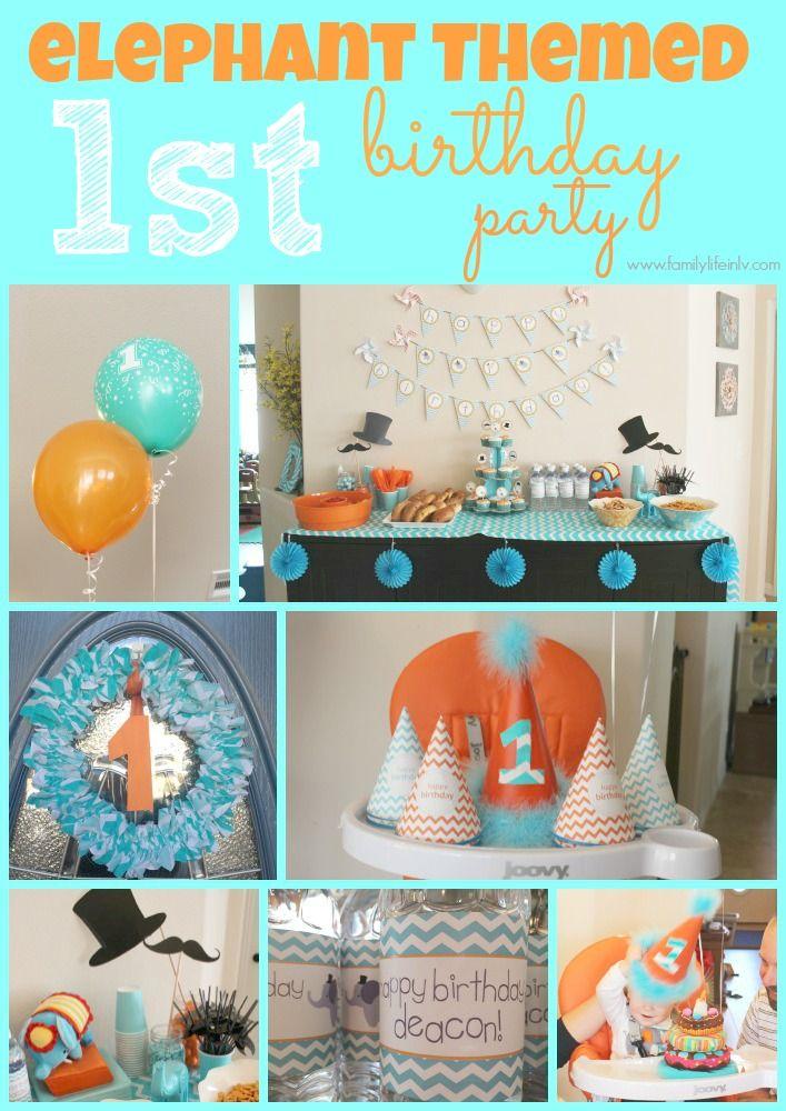 Birthday Party Elephant Birthday 1st Birthday Party Elephant