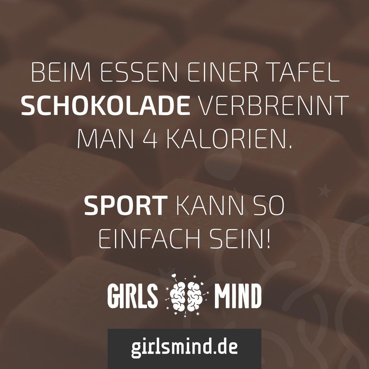 Mehr Spruche Auf Www Girlsmind De Schokolade Sport Kalorien