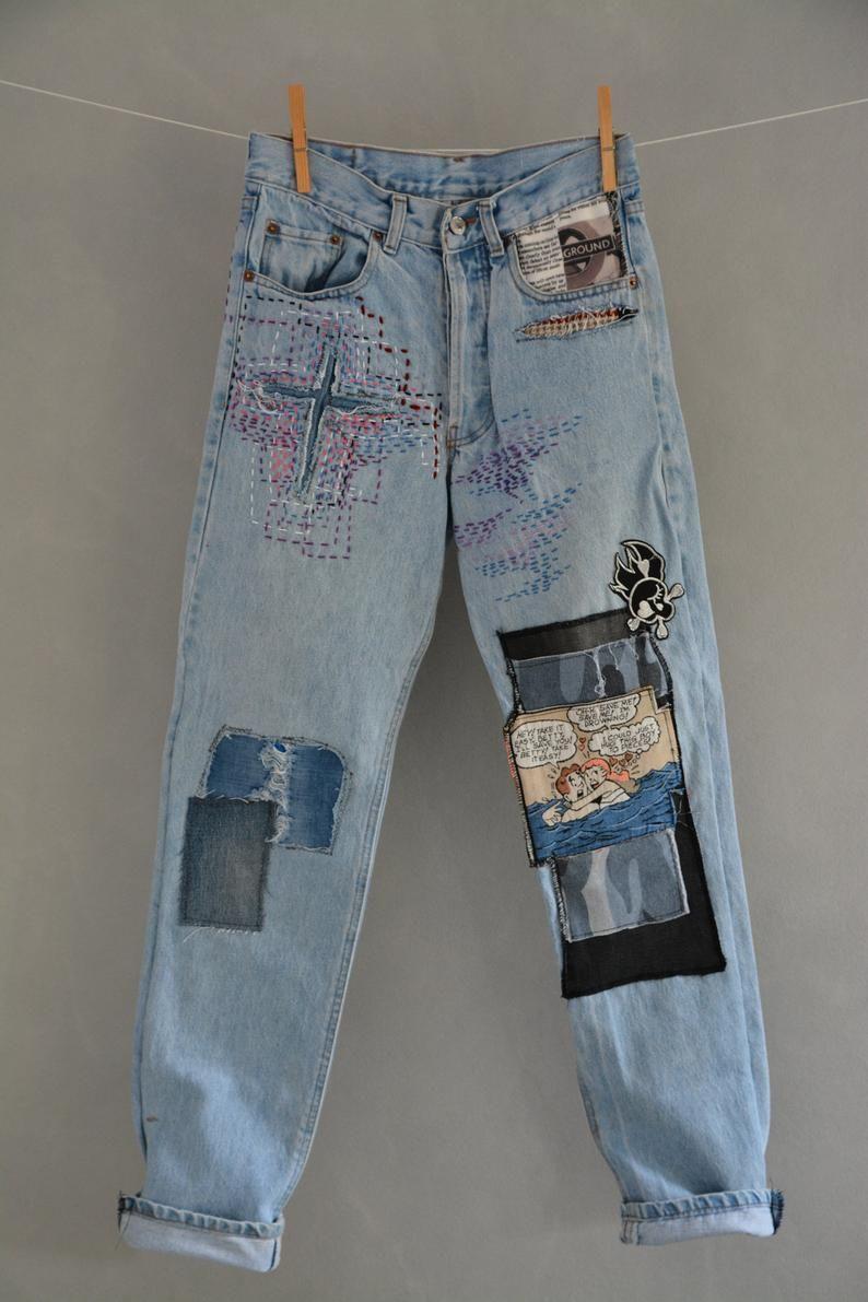 Vintage Jeans, Damen Jeans, Levis 501