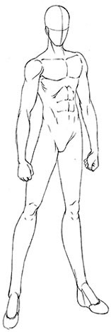How To Draw Manga Basic Male Body Shapes Manga Drawing Drawings Body Outline