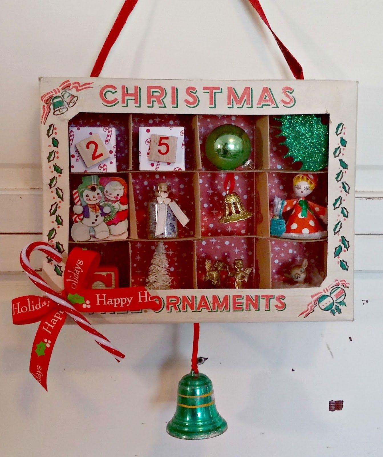 Vintage Ornament Box Dioramas  Ornament box Vintage ornaments