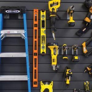 Proslat 4 Ft Gray Wall Panel Kit 88104 Wall Paneling Wall Storage Systems Slat Wall